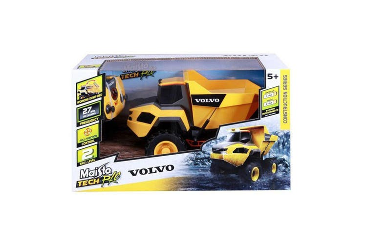 Maisto Tech Volvo Rock Hauler w/ RC Construction Series Toy Dump Truck Kids 8y+
