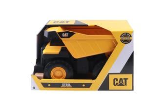 CAT 45cm Steel Dump Truck Kids/Children Construction Vehicle Toy 3y+ Yellow