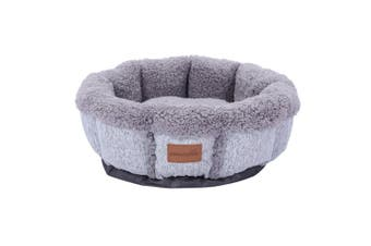 Paws & Claws 50cm x 50cm Large Primo Snuggler Sherpa Pet/Dog Bed/Mattress Grey