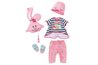 Baby Born Deluxe Sleepover Clothes Set for 43cm Dolls Kids/Children 3y+ Fun Toy
