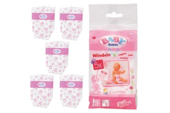 5pc Baby Born Doll Nappies/Diaper Doll's Accessories for 43cm Kids Dolls 3y+