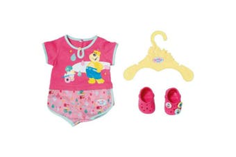 Baby Born Bath Shorty Pyjama w/ Shoes for 43cm Dolls Clothes Kids/Children 3y+
