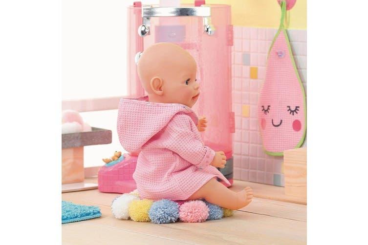 Baby Born Bath Bathrobe Clothes for 39-46 cm Dolls 3y+ Kids/Children Toy Pink