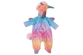 Baby Born Onsie Unicorn Rainbow for 43cm Dolls Clothes Kids/Children Play Toy