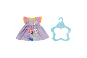 Baby Born Dress/Clothes for 43cm Dolls Kids/Children 3y+ Fun Play Toy Purple