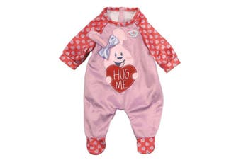 Baby Born Soft Romper/Clothes for 43cm Dolls Kids/Children 3y+ Fun Play Toy Pink