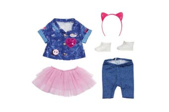 Baby Born Deluxe Jeans and Dress Clothes Set for 43cm Dolls Accessory Toys 3y+