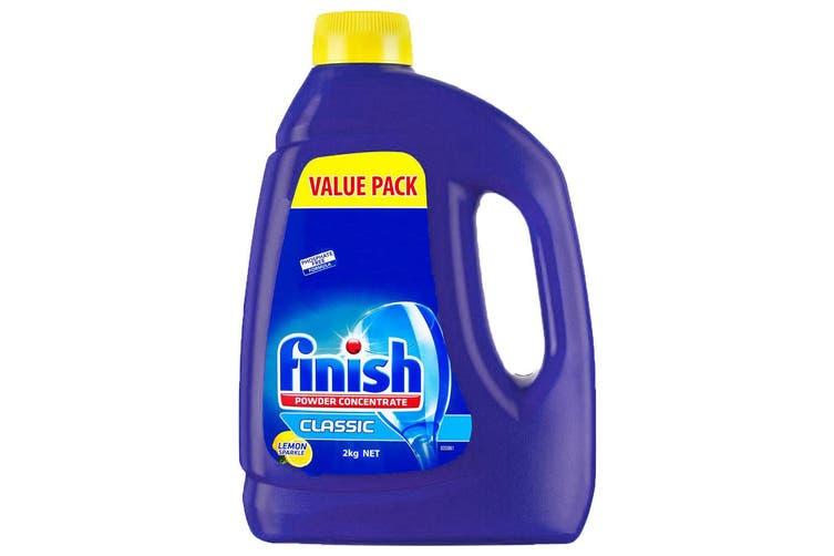 Finish 2kg 66 Washes Concentrated Lemon Dishwasher Powder Detergent (No Tab)