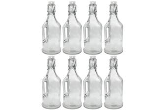 8PK Lemon & Lime 350ml Jar/Jug Drink Container w/ Clip Lock Lid Glass Bottle CLR