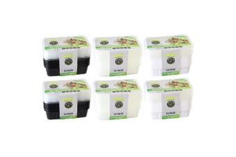 6x 10pc Lemon & Lime 750ml Meal Prep Reusable Containers/Food Storage Assorted