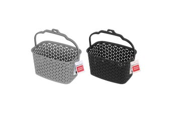 2x Box Sweden Wicker Design Peg Basket Storage Holder/Organiser w/ Hook Assorted