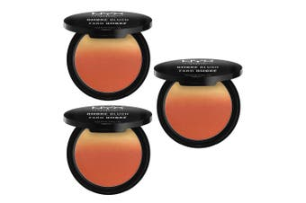 3x NYX 8g Ombre Women Makeup Cheek/Face Blush Pressed Powder OB02 Strictly Chic