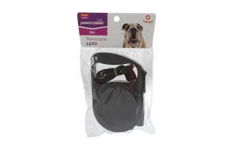 Paws & Claws 5m Retractable Pet Cat/Dog Walking Lead/Lease Assorted Colours