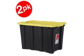 2x BoxSweden 60L Heavy Duty Garage Tools/Toys Storage Box Home Organisation Asst