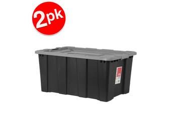 2x BoxSweden 100L Heavy Duty Garage Tool/Toys Storage Box Home Organisation Asst