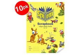 10x Spirax 100 GSM 64 Pages Unruled No.150  Bond Paper Scrapbook School Notebook