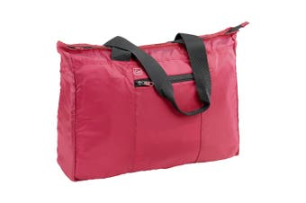 Go Travel 28L Lightweight/Foldable Flight Cabin Tote Bag Compact Luggage Red