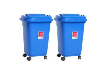2x BoxSweden 50L 58cm Heavy Duty Wheelie Waste/Rubbish/Toys Storage Bin Assorted