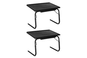 2PK BoxSweden Bed Mate 52cm Handy Portable/Foldable Laptop Desk/Table Home Black