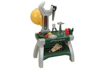 Klein Bosch 71cm Workbench Junior Mini Work Tools Set Hammer/Saw/Vice Kids Toys