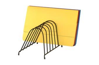 Marbig Wire Angled Desk Paper/Folder Holder/Rack 6 Slot Organiser for Office