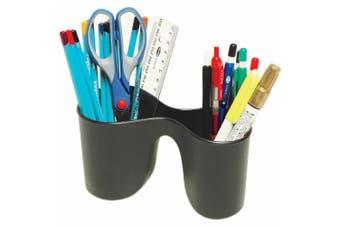 Marbig Enviro Duo Double Pencil Cup Pen Holder/Storage for School/Office Black
