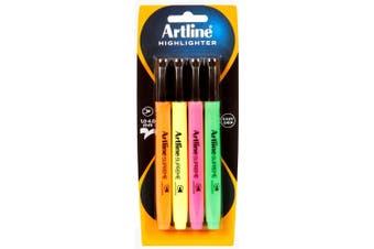 4pc Artline Supreme Highlighter Marker Pen Set Art/Craft School Assorted Colours