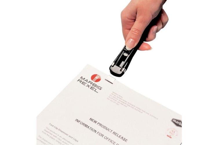 4PK Marbig Medium Fast Clip Dispenser Paper Fastener w/32 Reuse 16mm Clip Binder