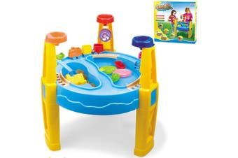 62cm Kids Sand/Water Activity Child Play Table Fun/Outdoor Sandpit Toys Set 28pc