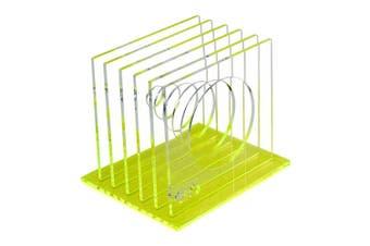 ColourHide Glo Step Desk File/Paper/Document Files Storage Organiser/Holder YL