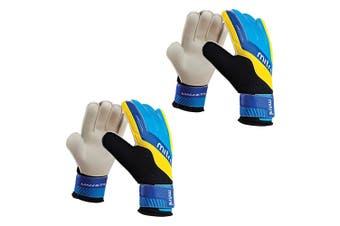 2x Mitre Magnetite Soccer/Football Sport Goalie Goalkeeper Gloves Pair Size 7 CY