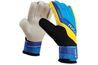 Mitre Magnetite Soccer/Football Sport Goalie Goalkeeper Gloves Pair Size 8 Cyan
