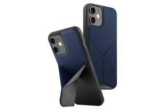 Uniq Transforma Drop Proof Folding Case w/Inbuilt Stand for iPhone 12 Mini Blue