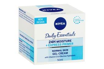 Nivea Daily Essentials Facial Primer Normal Skin 50ml Gel Cream Moisturiser