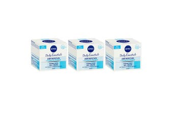 3x Nivea Daily Essentials Facial Primer Normal Skin 50ml Gel Cream Moisturiser