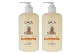Gaia 1L Pure/Organic Bath & Body Wash for Baby/Kids/Toddlers Vegan Friendly