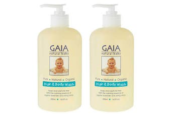 Gaia 1L Pure/Organic Hair & Body Wash for Baby/Kids/Toddlers Vegan Friendly
