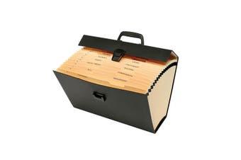 Marbig Carry File Paper/Office Document Organiser Holder Storage w/ Handle Asst