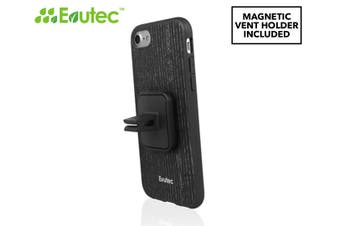Evutec AER Case Cover for iPhone 7/8 Wood w/ AFIX Magnetic Mount Black Apricot