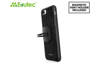 Evutec AER Case Cover for iPhone 7+/8 Plus Wood w/AFIX Magnetic Mount Black
