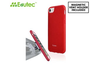 Evutec AERGO Series Case Cover Protect for iPhone 7/8 w/ AFIX Magnetic Mount Red
