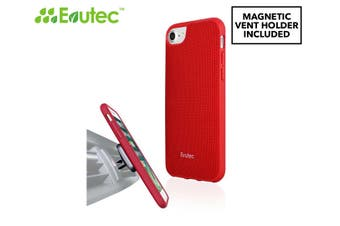 Evutec AERGO Case Cover Protect for iPhone 7+/8 Plus w/AFIX Magnetic Mount Red