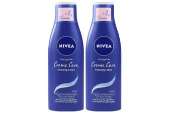 2x Nivea 200ml Daily Essentials Creme Care Cleansing Face Lotion/Make Up Remover
