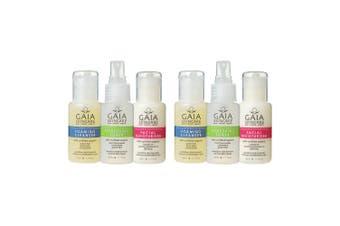 Gaia Organic 6 x 50ml Skincare Trio Set Travel Pack Cleanser/Toner/Moisturiser