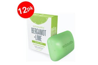 12x Schmidt's Bergamot/Lime Exfoliating Face/Body Natural Soap Bar w/Orange Peel