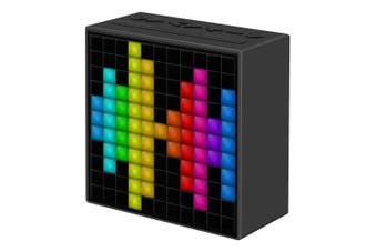 Divoom TimeBox Pixel Music Alarm Clock Wireless Bluetooth Speaker w/FM Radio BLK