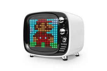 Divoom Tivoo Pixel Art Wireless Bluetooth Smart Speaker w/ Music/Alarm/Games WHT
