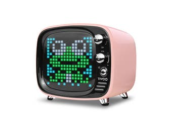 Divoom Tivoo LED TV Pixel Art Wireless Bluetooth Smart Speaker/Alarm/Games Pink