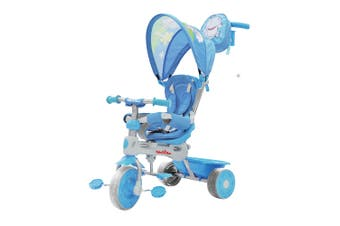 Trike Star Grand Comfort Kids/Toddler Ride On Tricycle w/Parent Handle 10m+ Blue