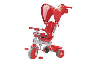 Trike Star Grand Comfort Kids/Toddler Ride On Tricycle w/Parent Handle 10m+ Red
